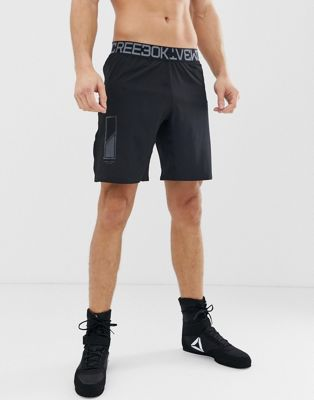 Image 1 of Reebok Combat Woven Boxing Shorts In Black