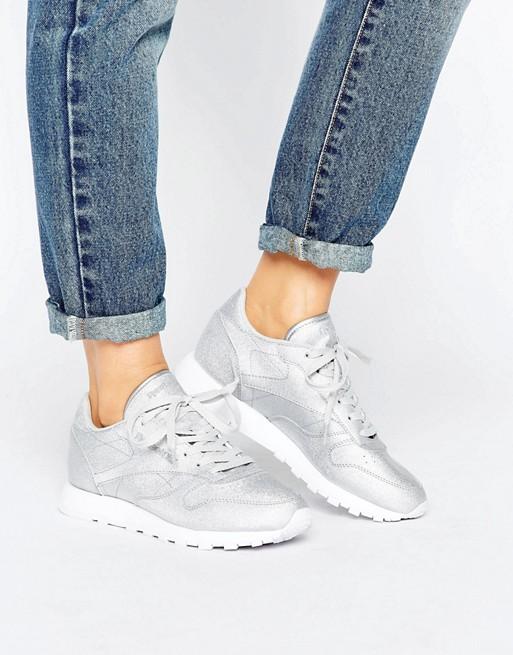 86371705e2b Reebok Glitter Classic Leather Sneakers