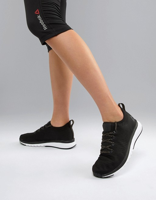 Image 1 of Reebok Print Smooth Running Sneakers In Black