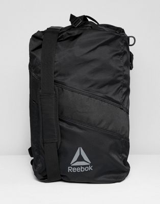 Reebok Training Active Enhanced Convertible Grip Backpack In Black CZ9808