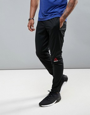Reebok Training Trousers In Tapered Fit In Black BK4548