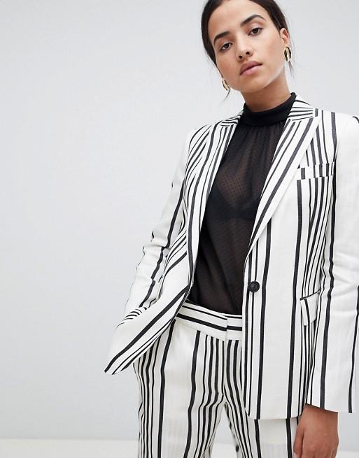 Image 1 of Reiss Striped Rodeo Blazer