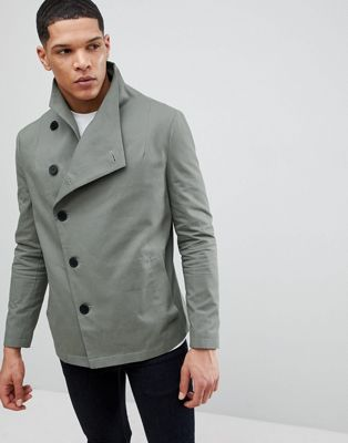 Religion Asymmetric Jacket In Khaki