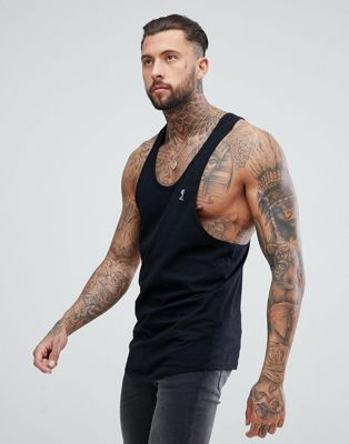 Religion Longline Vest In Black With Logo