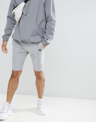Image 1 of Religion Nylon Shorts In Grey With Stretch