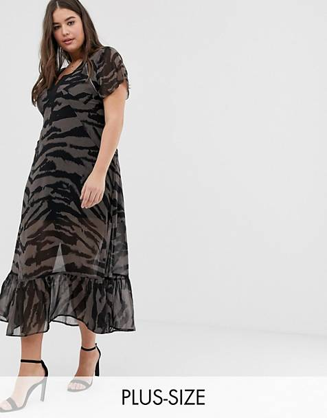 Religion Plus maxi dress in zebra