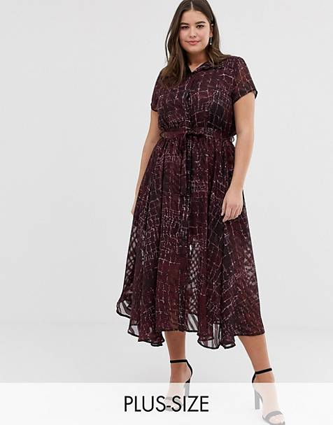 Religion Plus midi shirt dress in jacquard