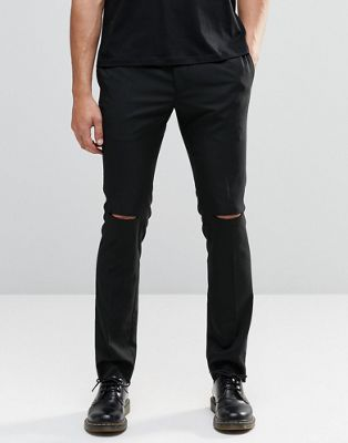 Religion Skinny Trousers with Ripped Knees