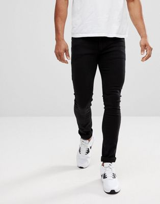 Religion super skinny fit jeans with low rise in black