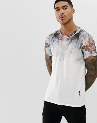 Image 1 of Religion t-shirt with oil slick fade print
