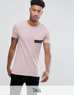 Image 1 of Religion T-Shirt With Stepped Hem and Stripe Pocket