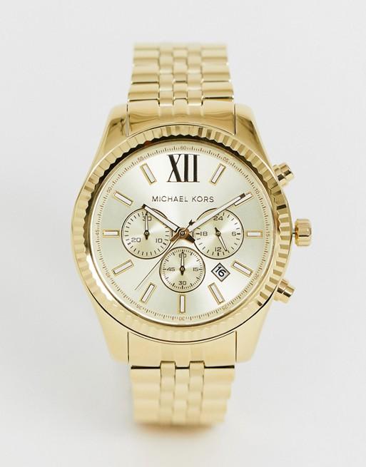 bc26ed92f76c6 Michael Kors   Reloj con cronógrafo en dorado MK8281 Lexington de Michael  Kors