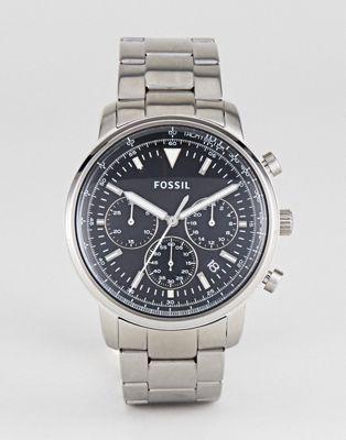 Reloj de pulsera en plateado de 44 mm con cronógrafo FS5412 Goodwin de Fossil