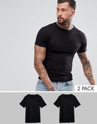 Replay - Set van 2 logo-T-shirts in zwart