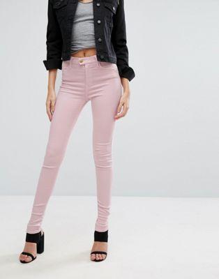 Replay – Touch – Skinny jeans med väldigt hög midja