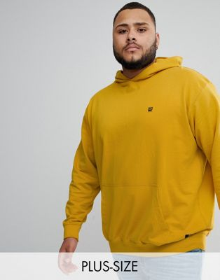 Replika Plus pullover hoodie in mustard