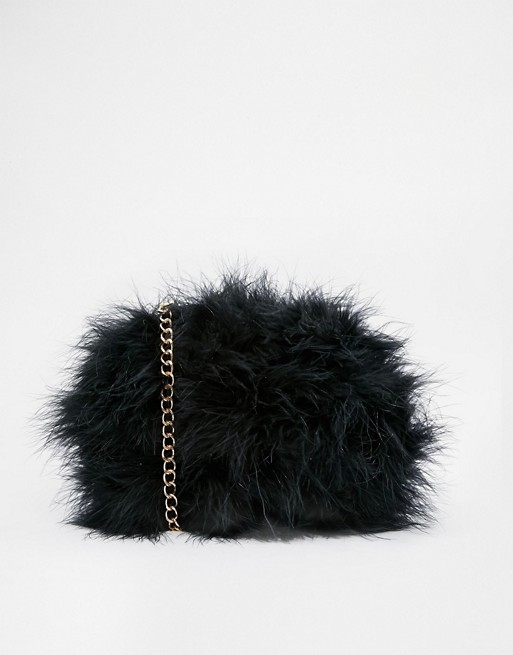 17bdcff79 River Island Black Fluffy Crossbody Bag | ASOS