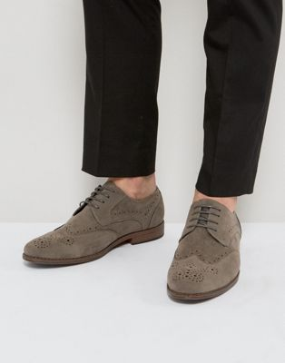 River Island Brogues In Grey