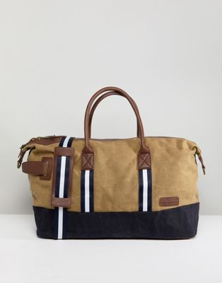 River Island Canvas Carryall In Stone