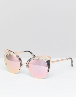 River Island Cat Eye Marble Effect Sunglasses