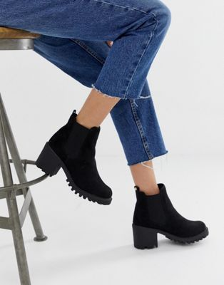 River Island chunky boots in black