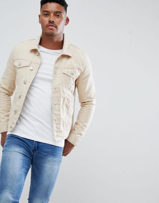 River Island denim jacket in ecru