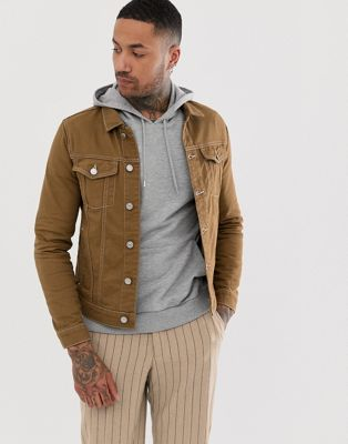 River Island denim jacket in tan