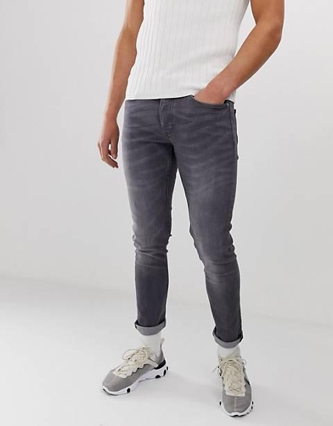 River Island – Enge Jeans in verwaschenem Grau