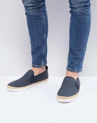 River Island Espadrille In Navy