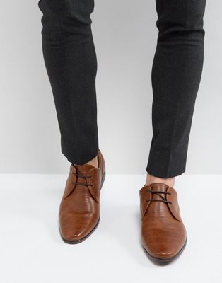 River Island Lace Up Derby Shoes In Tan