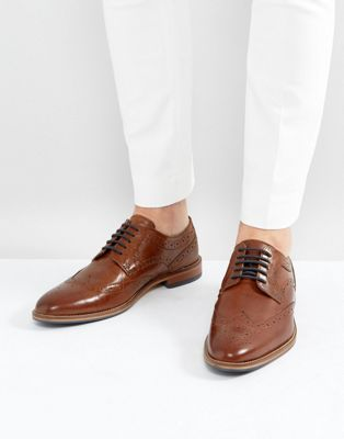 River Island Leather Brogues In Brown