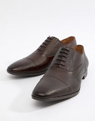Image 1 of River Island leather derbys in brown