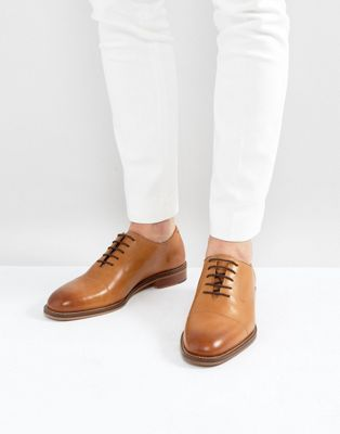River Island Leather Oxford Shoes In Tan