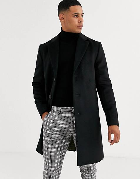 River Island overcoat in black
