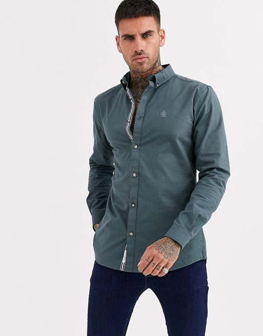 River Island oxford shirt in khaki