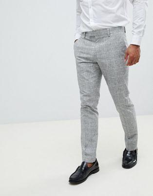 River Island - Pantaloni da abito skinny grigio chiaro