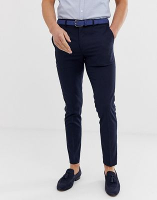 River Island - Pantaloni eleganti skinny blu navy