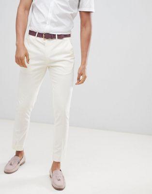 River Island - Pantaloni skinny eleganti bianco sporco