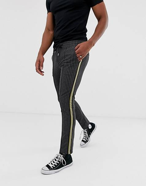 River Island pinstripe jogger with side stripe