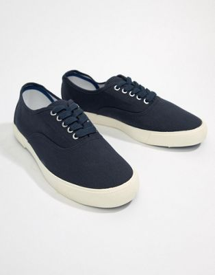 Image 1 of River Island Plimsole In Navy