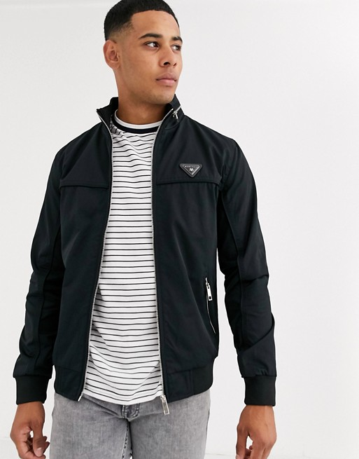 River Island Racer Jacker In Black by River Island