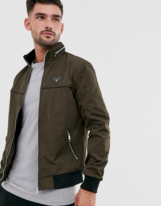 River Island Racer Jacket In Khaki by River Island