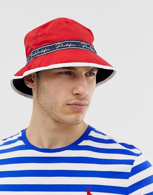 River Island Röd buckethatt