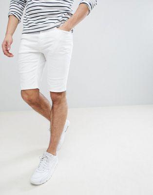 River Island - Short en jean - Blanc