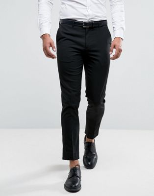 River Island skinny fit smart pants in black