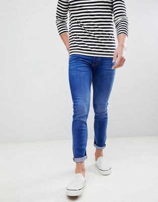 River Island skinny jeans in mid blue wash