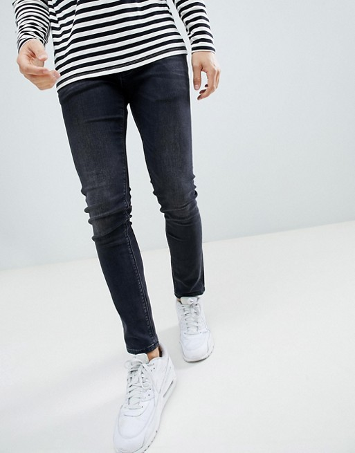 River Island skinny jeans in washed black