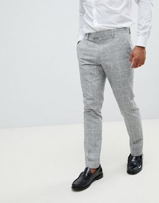 River Island skinny suit trousers in light grey