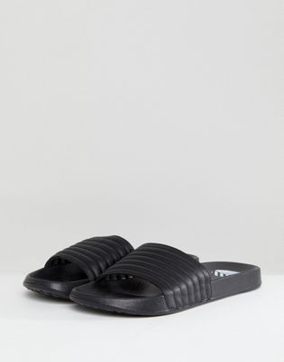 River Island Slider With Quilted Top In Black