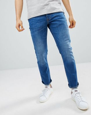River Island slim jeans in mid wash blue
